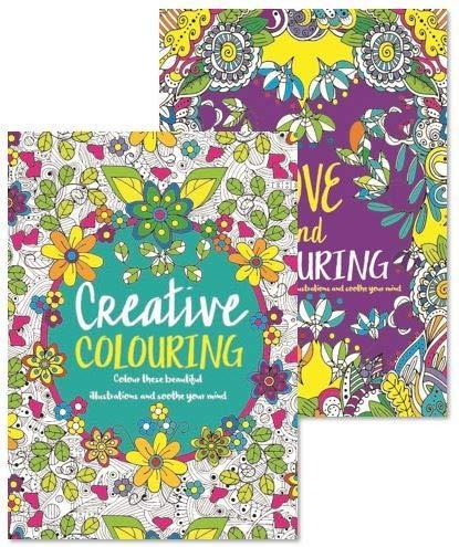 Malbücherfür Erwachsenen, 2er-Pack, Antistress, Farbtherapiemuster, perfektes Geschenk, Komplettset