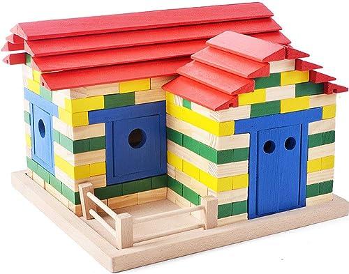 Asdflina Kinder bausteine  IY Spielzeug Kinder kreative Ziegel Farbblock frühe Bildung Kindheit Multi Farben und Formen Puzzle
