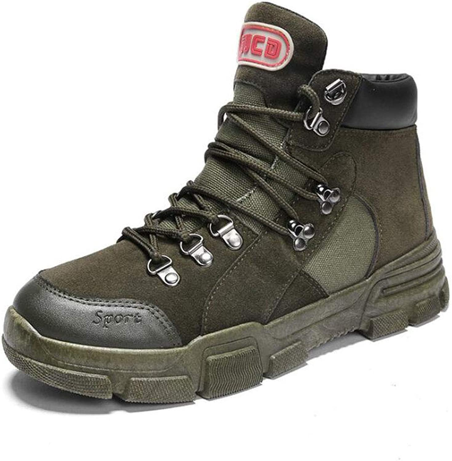 XUE Men's Boots,Winter,Casual Boots,personality Tooling Boots, Outdoor Military Boots,waterproof,Ankle Boots,Retro Hiking shoes,Desert Warfare (color   A, Size   40)