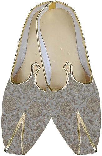 INMONARCH Herren Golden schmeichelhaft Indische Hochzeit Schuhe MJ0156