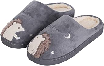 Women's Cute Animal Winter Slippers Soft Plush Warm Fleece House Shoes