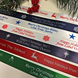 Personalized Christmas Ribbon - Customized with Your Text for Gift Wrapping (10 Yards)