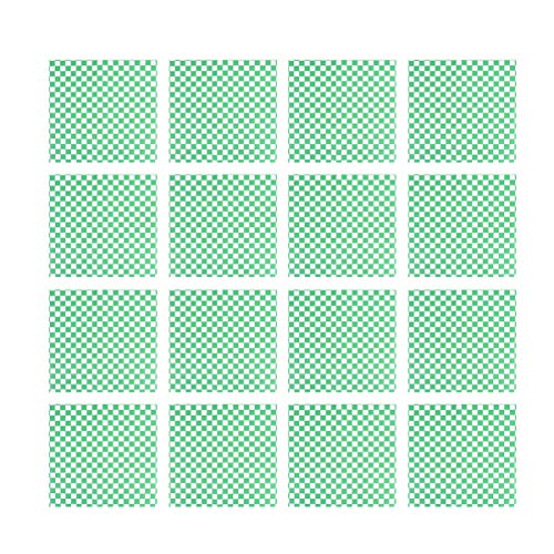 Yardwe 100 piezas de papel de embalaje de alimentos a cuadros para hornear papel a prueba de grasa para emparedado, papel de cera, forro de cesta de alimentos (verde)
