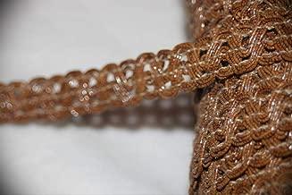 1 Yard Natural Dark Tan Brown Gimp RIC Rac Sewing Craft Assorted Pattern Ribbon Lace Trim 1/2