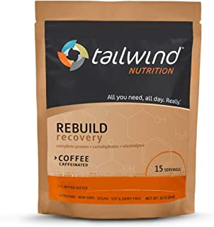 Tailwind Nutrition Rebuild Recovery Coffee Drink Mix 15 Serving Pouch - Complete Protein, Electrolytes and Carbohydrates -...