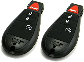 Pair of OEM Electronic Keyless Entry Remote Fobs FOBIK Compatible With Dodge (FCC ID: IYZ-C01C)