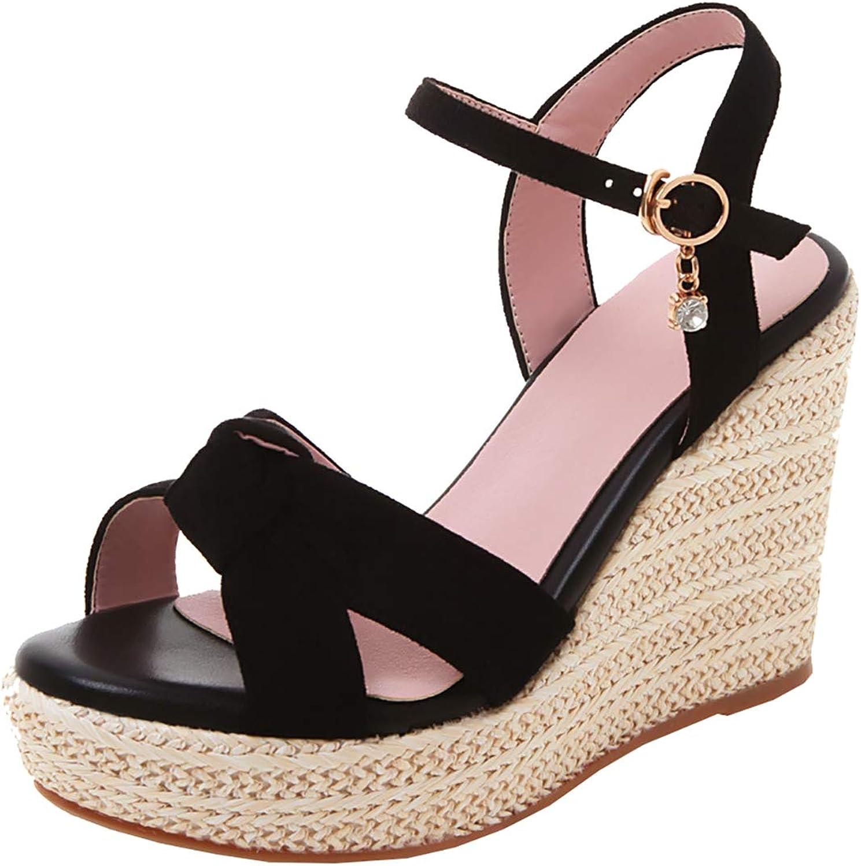 Artfaerie Womens Espadrille Wedge High Heel Platform Sandals Ankle Strap Slingback Summer shoes
