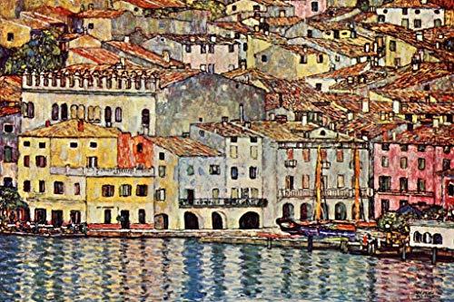 Gustav Klimt Malcesine on Lake Garda Poster - 18x12