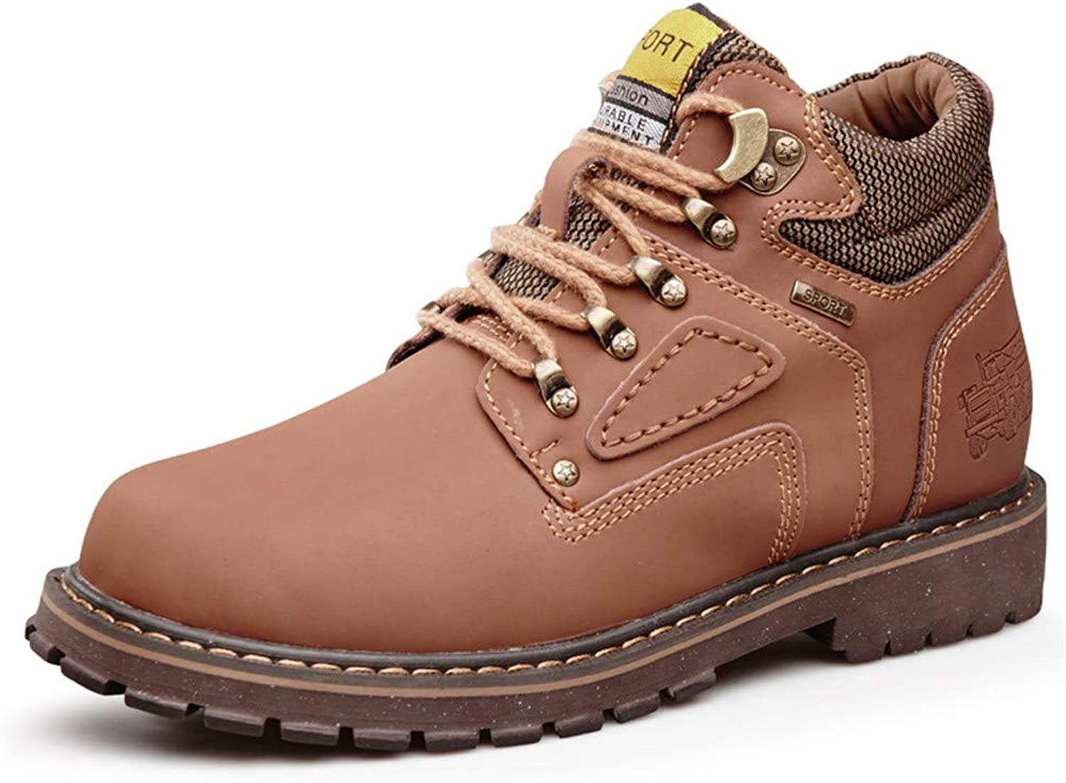 Fashion Boots,Casual shoes Men's Stylish Comfortable Ankle Boots Casual Classic Round Top High Top Cotton Warm Outsole Work shoes (Conventional Optional) Personality shoes, Warm Boots