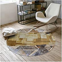 Modern Rugs, Retro Style Round Area Decorative Rugs for Living Room/Bedroom Dining Room Rug Non-skid Computer Chair Mats H...