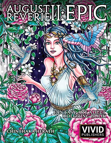 August Reverie 2: Epic - Fantasy Art Adult Coloring Book