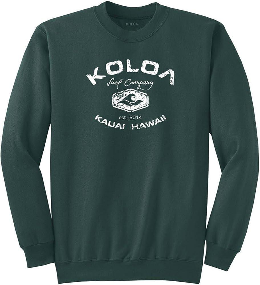 Koloa Surf Vintage Arch Logo Crewneck Sweatshirts in Regular, Big & Tall