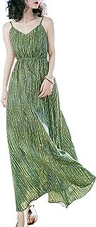 Vestido largo medio para playa de Lotus Leaf para mujer