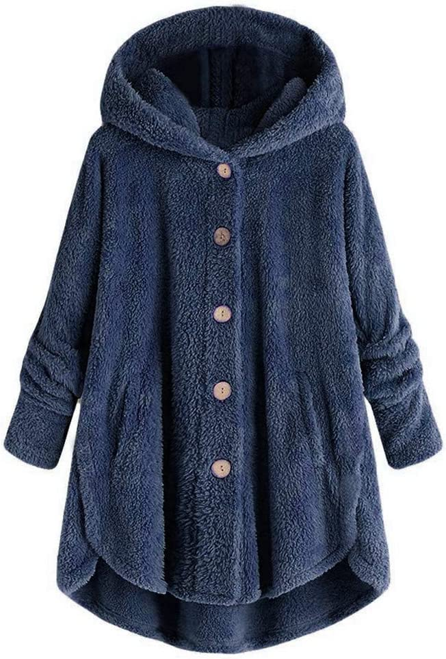 Women's Coats Vintage Solid Color Hairy Plus Hooded Coat Popular products Ho Size Nashville-Davidson Mall