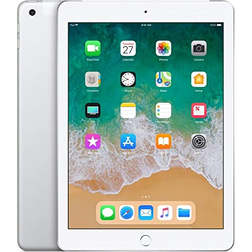 Apple 9.7in iPad (Early 2018, 32GB, Wi-Fi Only, Silver) MR7G2LL/A (Renewed)