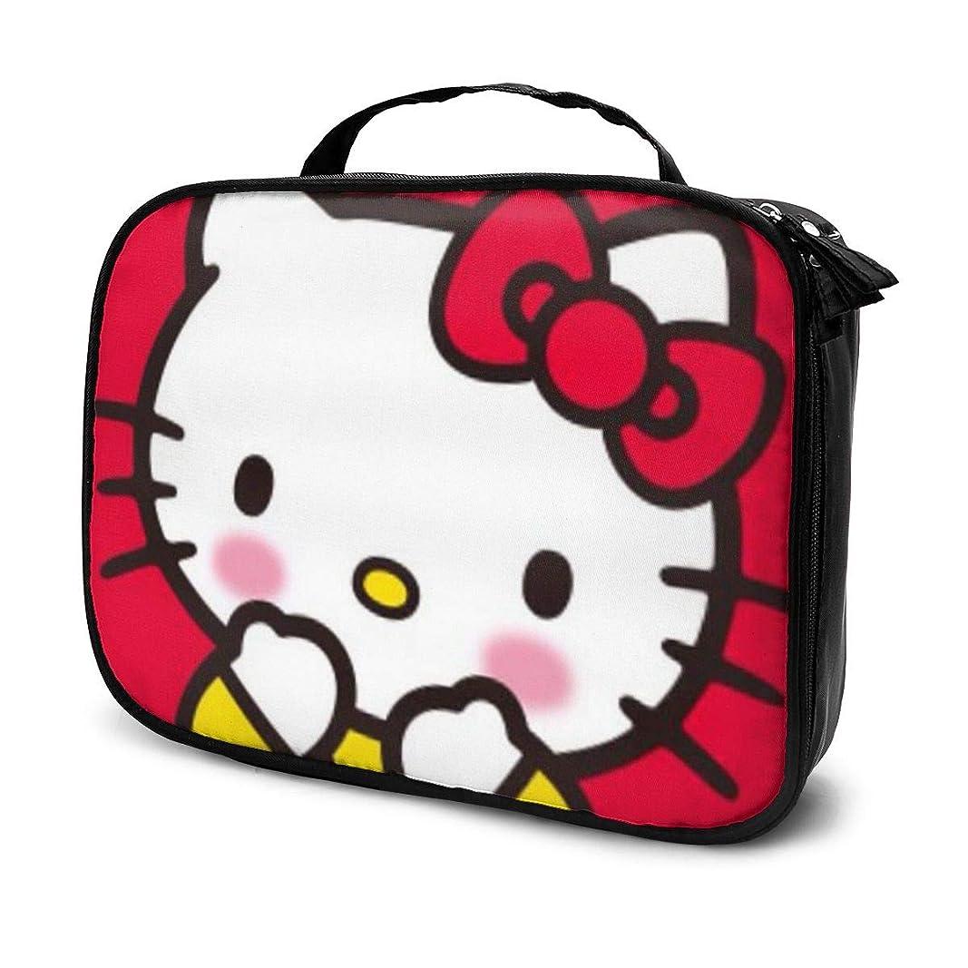 ジュニア一瞬飢饉Daituハローキティ 化粧品袋の女性旅行バッグ収納大容量防水アクセサリー旅行