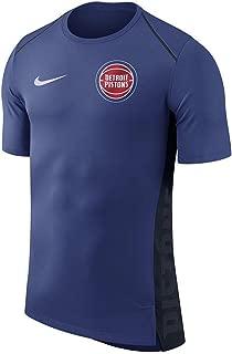 Nike Men's Dry Detroit Pistons Hyperlite Short Sleeve Shooter Shooting Shirt