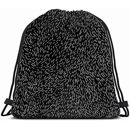 Saco de cincha ligero, bolsa de gimnasio de cuerda, mochila con cordón, textura hecha a mano, bolsa de danza abstracta, bolsa de deporte, mochila de playa para yoga, viajes, senderismo, camping, Shopingmotion 4042