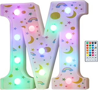 Colorful LED Marquee Letter Lights, 18 Colors Changing...