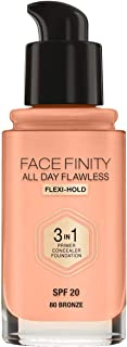 Max Factor Facefinity All Day Flawless Foundation #80 Bronze, 30 milliliters