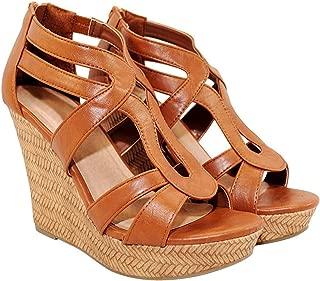 TRENDSup Collection Women Open Toe High Wedge Platform Sandal Shoes