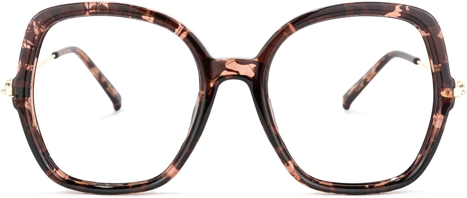 Zeelool Chic Oversized Square Blue Daily bargain sale Max 56% OFF Blocking Light Wo Glasses for