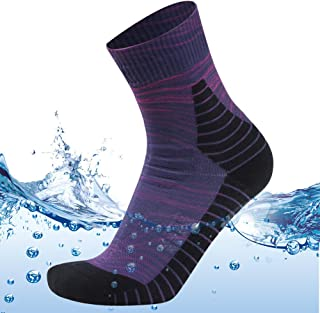 MEIKAN 100% Waterproof Socks, Unisex Breathable Hiking Trekking Ski Wading Socks