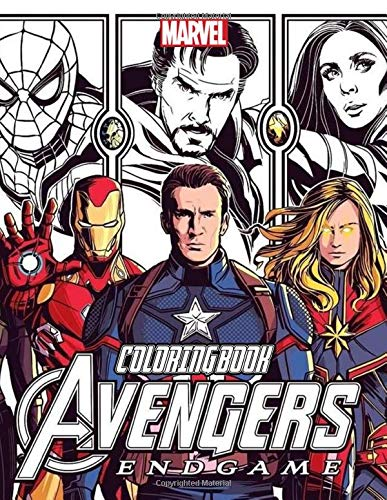 Avengers Coloring Book: Exclusive Work - 36 illustrations Great Coloring Book for Adults, Teenagers, Tweens, Older Kids, Boys, Girls, Toddlers, Kids