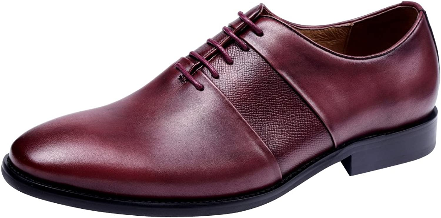 Tortor 1bacha Men's Leather Lace Up Dress Oxford shoes