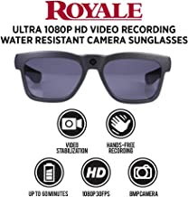 GoVision Royale Ultra HD Video Camera Sunglasses Royale Ultra HD Video Camera Water Resistant Sunglasses, Black