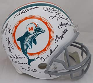 1972 Miami Dolphins Multi Signed Autographed Full Size Replica Helmet With 22 Signatures Including Bob Griese & Larry Csonka Beckett BAS