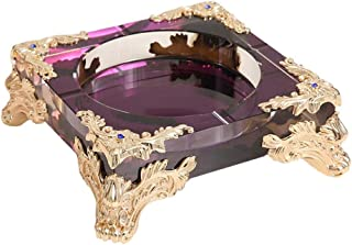 Ashtray, Luxurious Crystal Ashtray European Style Creative Personality Trend Household Living Room Office Concert Hall Ashtray Color - Purple WXIFEID (Color : Purple),Colour:Purple (Color : Purple)