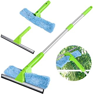 Sponsored Ad - Window Squeegee Cleaner with Microfiber Scrubber, 3 in 1 Professional Detachable Cleaning Kit, Telescopic W...