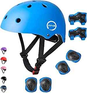 JIFAR Adjustable Helmet for Youth Kids Toddler Boys Girls,Protective Gear with Elbow Knee Wrist Pads for Multi-Sports Skat...