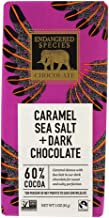 Endangered Species Chocolate Bar Dark Chocolate Caramel Sea Salt (Pack of 4)