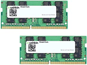 Mushkin Essentials – DDR4 Laptop DRAM – 64GB (2x32GB) SODIMM Memory Kit – 2666MHz (PC4-21300) CL-19 – 260-pin 1.2V Notebook RAM – Dual-Channel – Low-Voltage – (MES4S266KF32GX2)