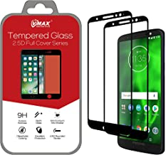 VMAX MORE THAN YOU SEE 2-Packs Motorola Moto G6 Screen Protector, 2.5D Curved HD Clear Scratch Resistant Tempered Glass Screen Protector for Motorola Moto G6