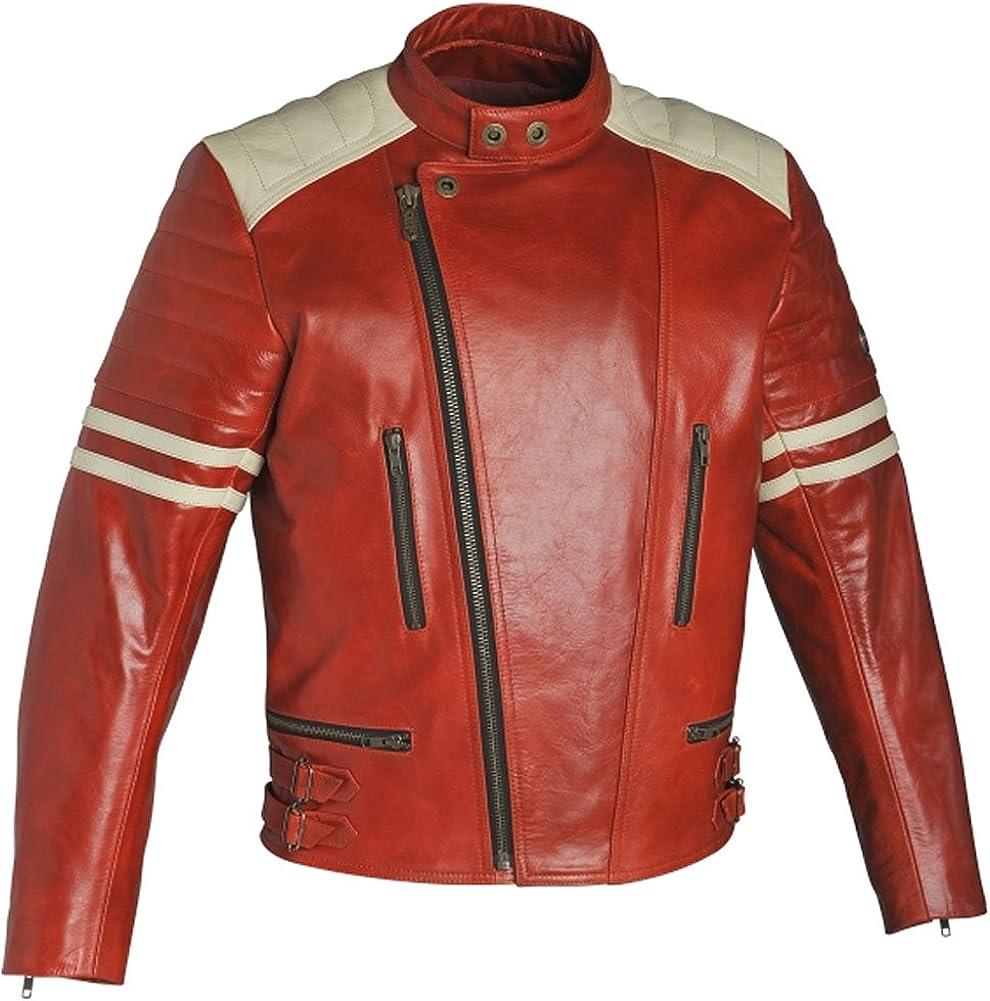SleekHides Men's Fight Fashion Genuine Leather Motorbike Club Jacket