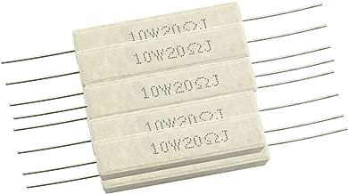 Tegg Wirewound Cement Resistor 10PCS 10W 20 Ohm Ceramic Cement Power Resistor
