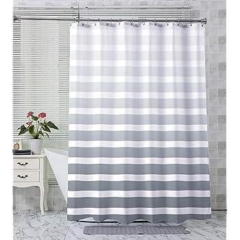 Grey Purple,... Textile Shower Curtain 120//180//240 x 200 cm White Blue Black