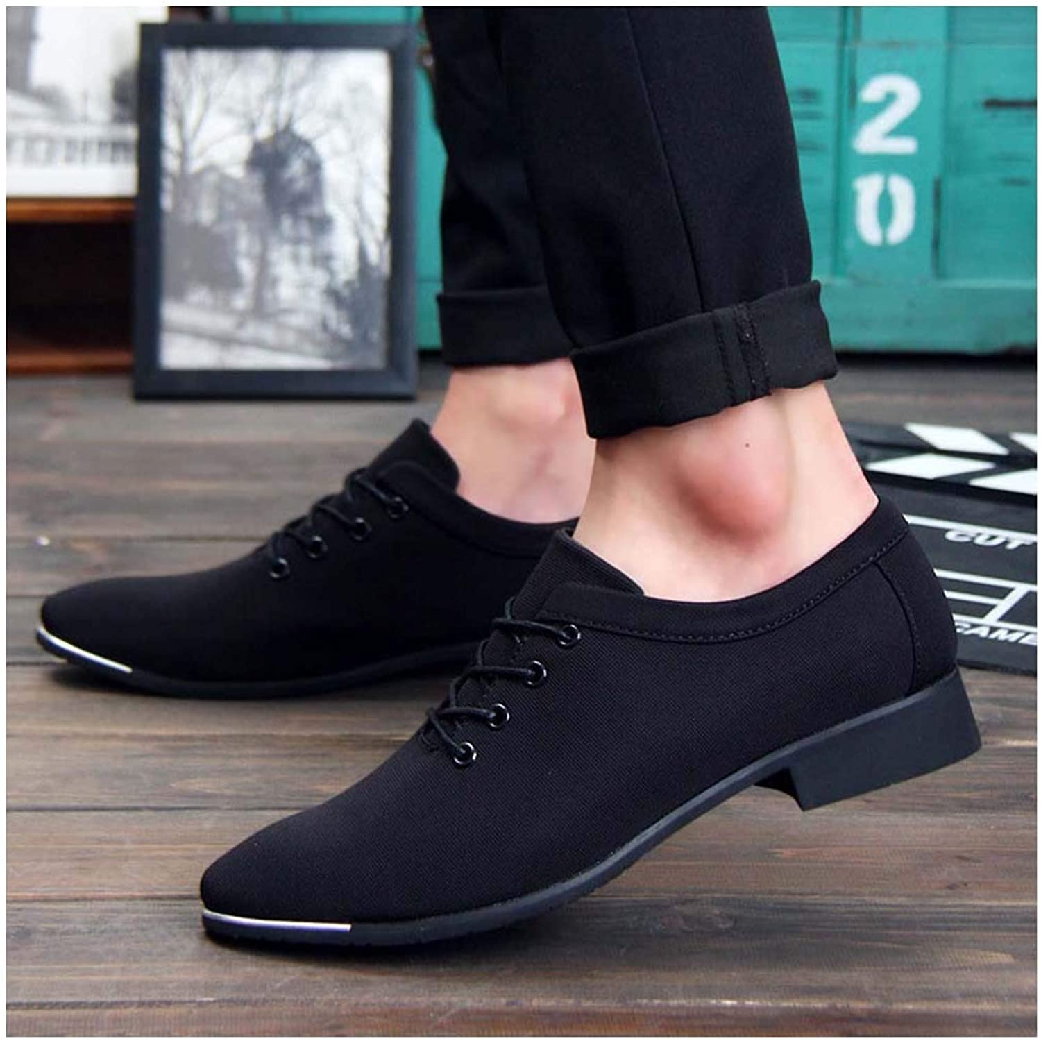 New Men Formal Wedding shoes Business Dress shoes Loafers Pointed Toe Big Size