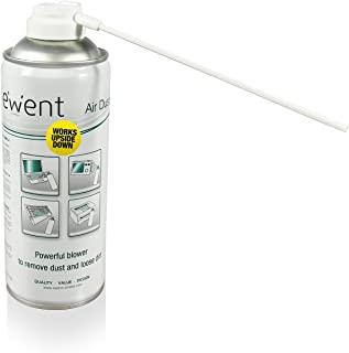 Ewent EW5600 - Spray de Aire comprimido Limpia Polvo Reversible, Color Blanco
