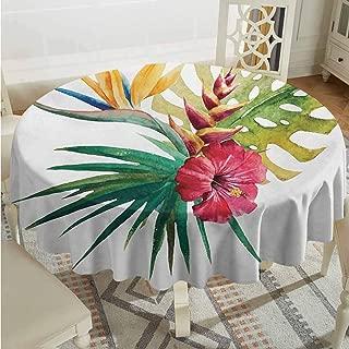 green leaf petal tablecloth
