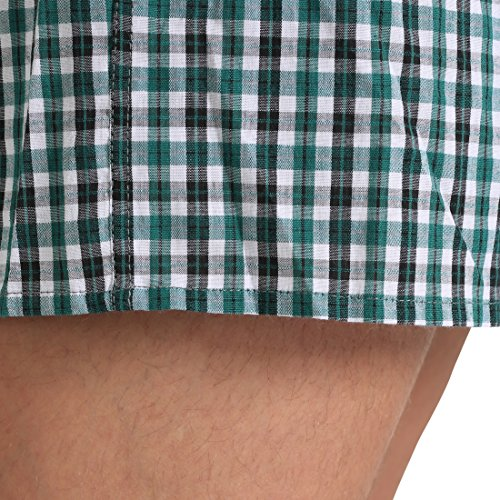 Lower East Men's American Boxer Shorts, Pack of 6 checkered, size XL