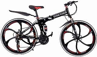 Outroad Mountain Bike 21 Speed 26 in Folding Bike Double Disc Brake Bicycles