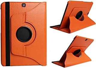 $26 Get Jennyfly 2019 Tab S5e Galaxy 10.5 inch Case (T725),PU Leather 360 Degree Rotating Stand Protective Cover Easy Viewing Lightweight Folio Case for Samsung 2019 Galaxy Tab S5e 10.5(SM-T720/T725) - Orange