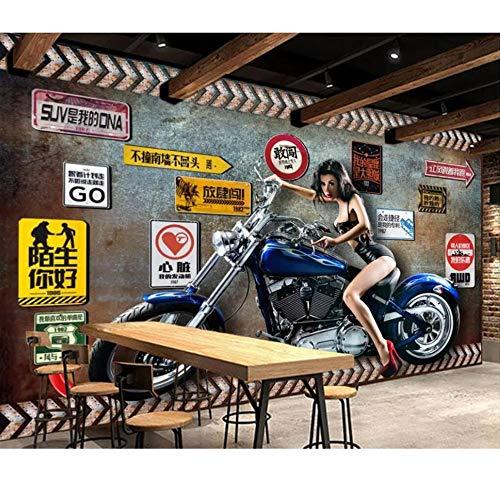3D fotobehang aangepaste muurschildering retro nostalgische schoonheid motor catering bar wooncultuur woonkamerbehang voor muren 3 d 350 x 245 cm.