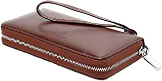 Dreneco Women RFID Blocking Wallet Large Capacity Purse Leather Clutch