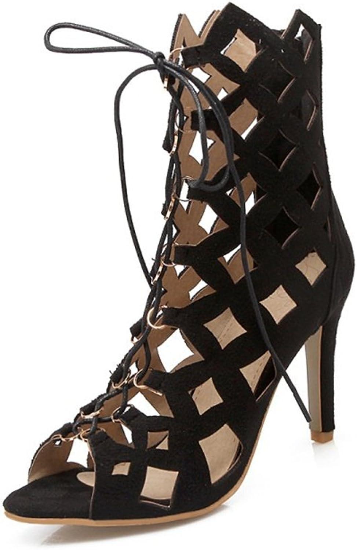 Women's shoes Leatherette Summer Lace-up Ankle Strap Slingback Stiletto Heel Buckle for Party & Evening Dress Black bluee Light Brown orange Sandals