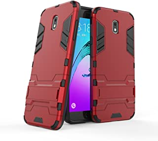 Galaxy J7 2018 Case,Galaxy J7 Aero/J7 Star/J7 Top/J7 Aura/J7 Refine Case, Hybrid Case [2 in 1] Lightweight Hard PC Cover + Flexible TPU Protective with Kickstand for Samsung Galaxy J7 2018 - Red